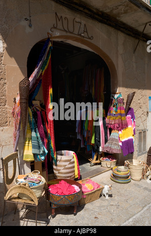 Shop in the town centre, Old Town of Valldemossa, West Coast, Mallorca, Spain - Stock Photo