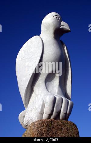 Bird sculpture Stone Jetty Morecambe - Stock Photo