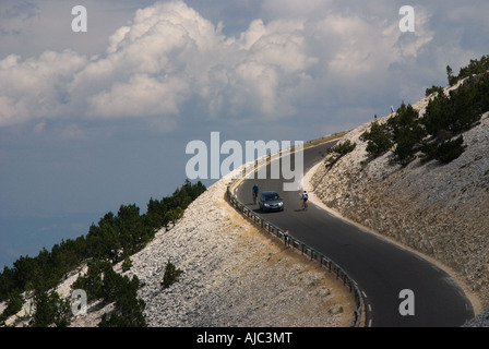 On the road up to Mt Ventoux, France - Stock Photo