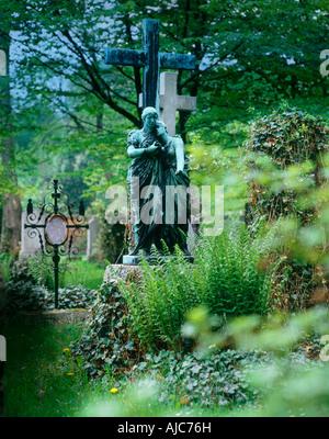 alter südlicher Friedhof von München ehemaliger Pestfriedhof   old southern graveyard of Munich former plague cemetery - Stock Photo