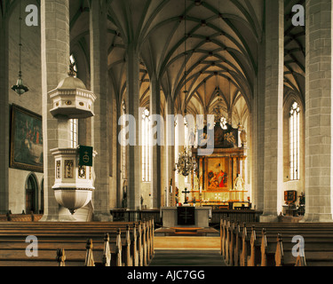 Dom St Petri Innenaufnahme Bautzen Sachsen | Cathedral St Petri interior view Bautzen Saxony Germany - Stock Photo