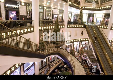 EU DE Germany Capital Berlin Christmas shopping season Quartier 206 the luxury shopping mall Friedrichstrasse ( - Stock Photo