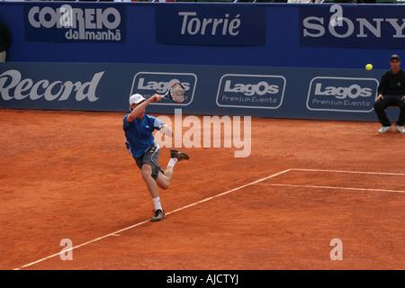 Estoril Open 2007 - Men's 1st round qualifying - Sam Querrey vs Luis Horna - Stock Photo