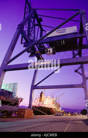 Container cranes and freighter