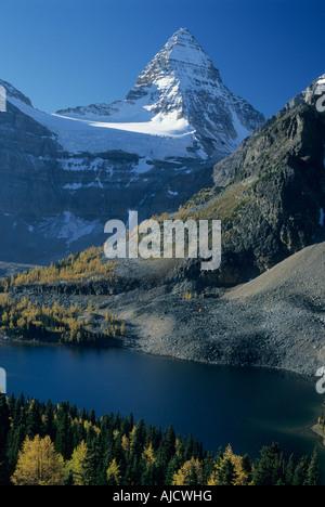 Mt Assiniboine, 11870 ft.,  highest peak in Banff National Park, Canadian Rockies Canada - Stock Photo