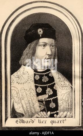 Edward IV, 1442 - 1483.  King of England, 1461 - 1470 and 1471 - 1483. - Stock Photo