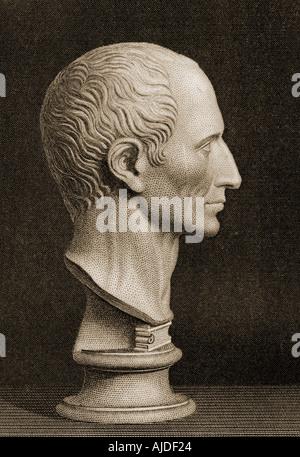 Gaius Julius Caesar, 100BC -  44BC.  The last dictator of Rome. - Stock Photo