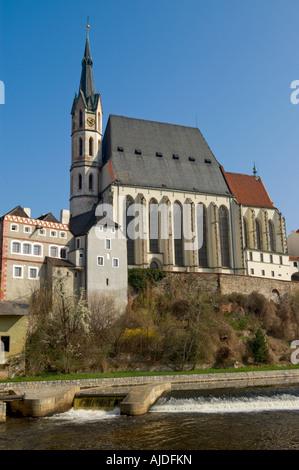 St. Vitus Church in Český Krumlov (Southern Bohemia, Czech) - Stock Photo