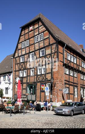 Europa Europe Germany Deutschland Mecklenburg Vorpommern Mecklenburg Western Pomerania Wismar Alter Hafen Old Harbour - Stock Photo