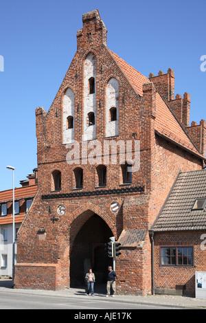 Western Pomerania Wismar Wassertor Wasser Tor Watergate Water Gate Alter Hafen Old Harbour Habor - Stock Photo