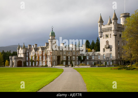 Balmoral Scottish castle and grounds  - Royal residences - Deeside Aberdeenshire, Scotland, UK - Stock Photo