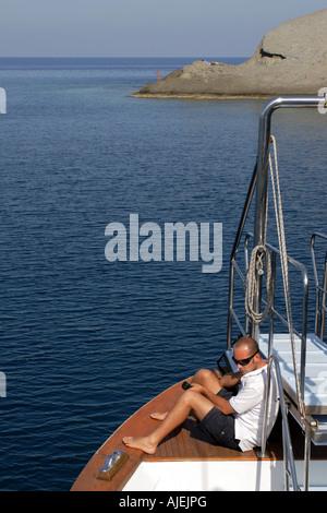 The rocky beach at Pollara on the island of Salina in the Aeolian Islands Sicily Italy - Stock Photo