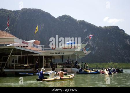 Andaman Sea Canoe Centre Phang Nga Bay Thailand - Stock Photo