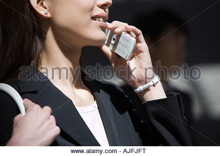 Woman on cellphone - Stock Photo