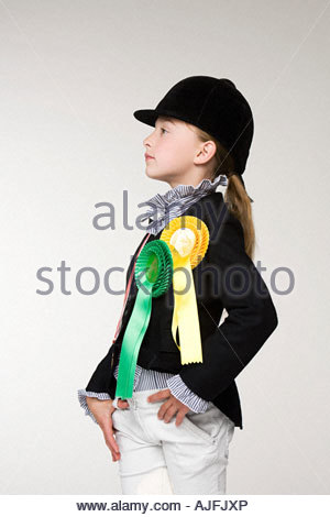 Portrait of a horse rider - Stock Photo