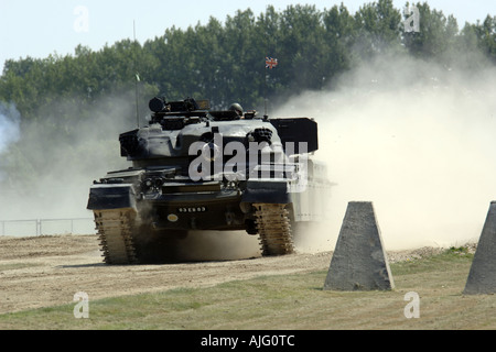 Modern day British Army Chieftain tank on manouvers in