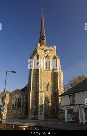 the church of St Peter and St Mary in the town of Stowmarket, Suffolk, UK - Stock Photo
