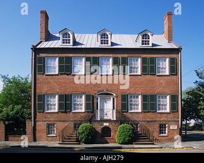 Georgia Savannah Isaiah Davenport House built 1815 20 Federal style Mansion - Stock Photo