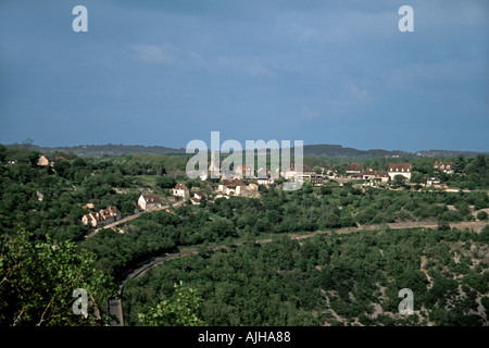 L' Hospitalet viewed from Rocamadour - Stock Photo