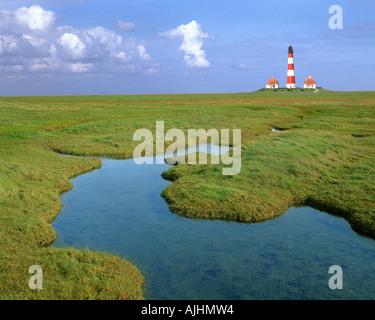 DE - SCHLESWIG-HOLSTEIN:  Westerhever Lighthouse - Stock Photo