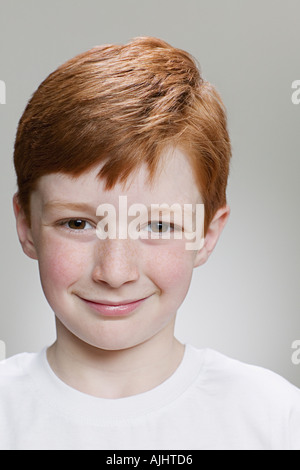 Portrait of a red-headed boy - Stock Photo