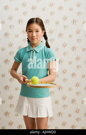 Girl tennis player, - Stock Photo