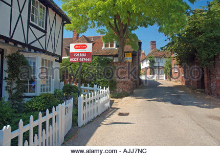 Chilham Village, House For Sale - Stock Photo