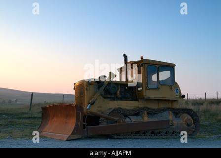 Earth moving machinery in Derbyshire - Stock Photo