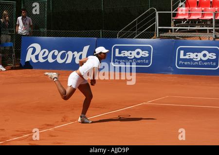 Estoril Open 2007 - Women's 1st round qualifying - Neha Uberoi vs M. Koehler - Stock Photo