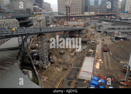 Construction work at Ground Zero - Stock Photo