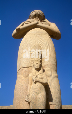 The Unknown Statue of Ramesses II in Karnak Temple - Stock Photo