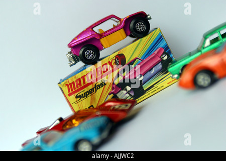 matchbox toy car with original packaging - Stock Photo