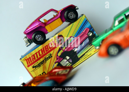 matchbox toy car with packaging - Stock Photo