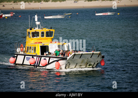 The ferry from Rock to Padstow, Cornwall, England - Stock Photo