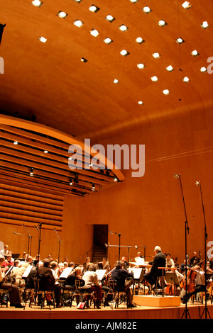 Neeme Jarvi and orchestra gothenburg symphony orchestra GSO classical music performance rehearsal concert concert - Stock Photo