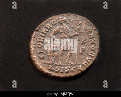 Bronze Roman Coin of emperor Gratian - Stock Photo