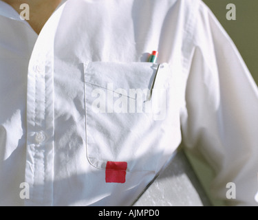 Square stain on shirt - Stock Photo