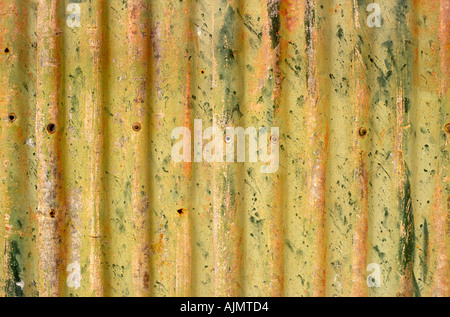 Corrugated iron, Australia - Stock Photo
