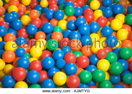 Close-up of a ball pool - Stock Photo