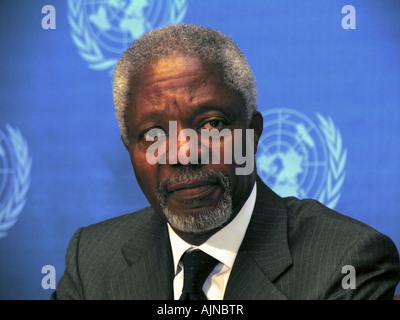 Former Secretary General of the United Nations, Kofi Annan. - Stock Photo