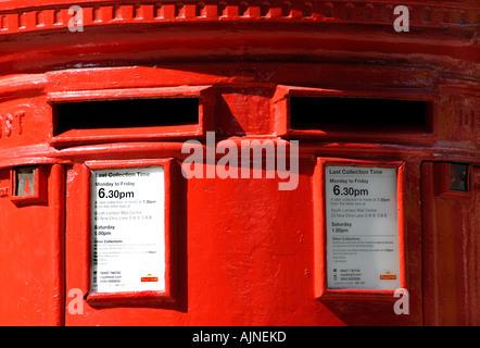 British red pillar box London - Stock Photo