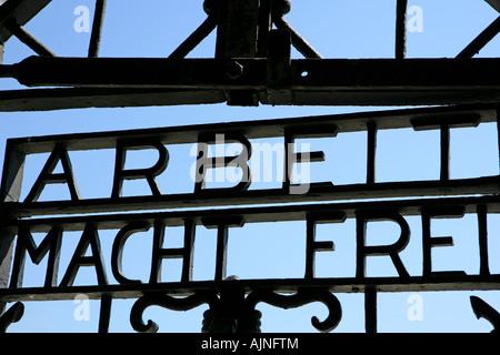 Dachau Concentration Camp Munich Germany Bavaria - Stock Photo