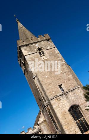 Holy Trinity Church Tower in Bradford on Avon Wiltshire England - Stock Photo
