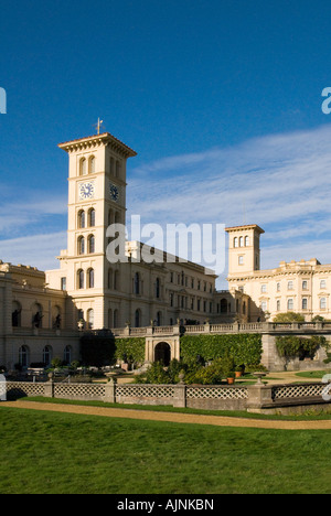 Osborne House, Isle of Wight. Stately home of Queen Victoria on the picturesque Isle of Wight - Stock Photo