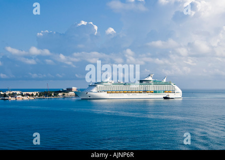 Explorer of the Seas cruise ship docked in Bermuda. Royal Caribbean Voyager line. Somerset Parish, Bermuda - Stock Photo