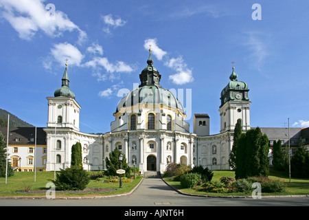Germany Bavaria Ettal minster exterior view 1745 1762 built by Joseph Schmuzer - Stock Photo