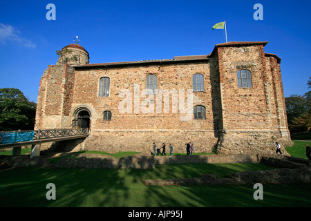 colchester castle essex england uk gb - Stock Photo