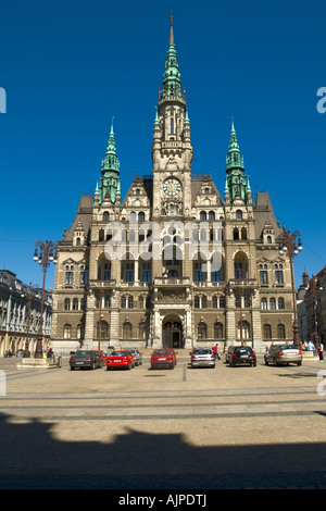 Neo-Gothic style Town Hall in Liberec (Czech) - Stock Photo