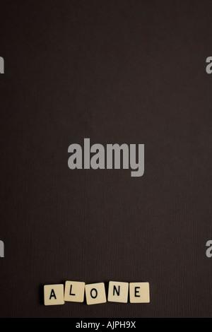 Word tiles on black background - Stock Photo
