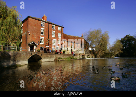 Old Mill Hotel at Harnham in Salisbury, Wiltshire, UK. - Stock Photo